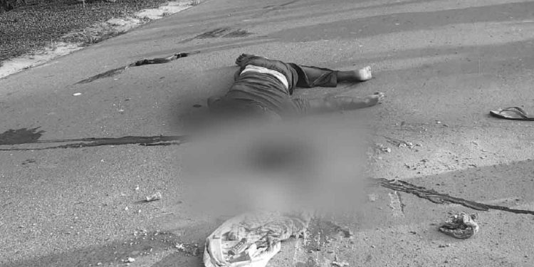 Body of Jiban Debnath- one of the deceased. Image: Northeast Now