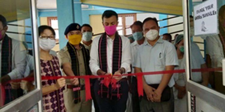 Lohit DC inaugurating the new OT at Tezu General hospital