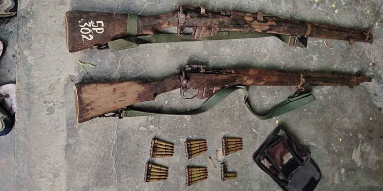Assam: Arms stolen from Kalamati Forest Range recovered 1
