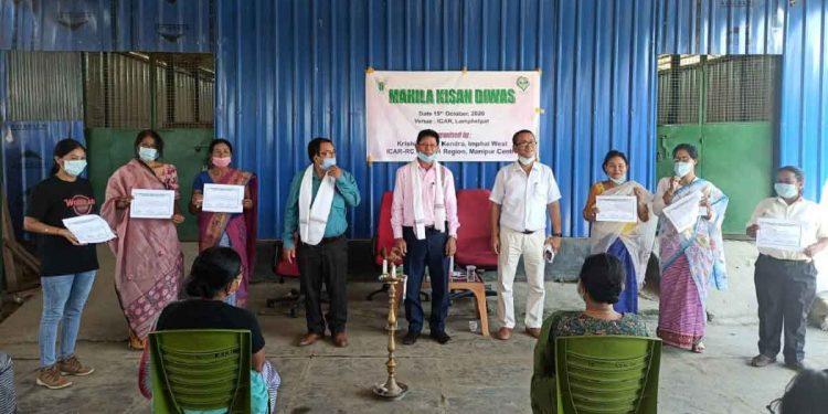 Seven women farmers honoured in Manipur