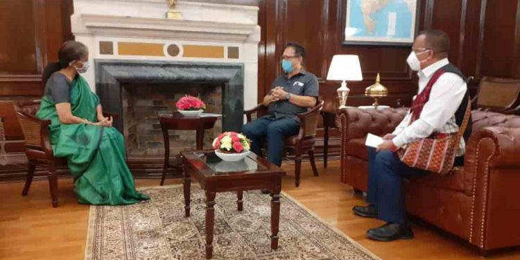 The two Mizoram MPS in conversation with Nirmala Sitharaman