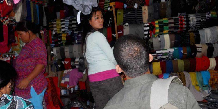 A view of a Tibetan refugees' market. Image: Northeast Now