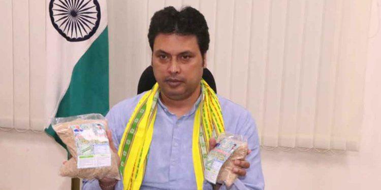 Tripura CM Biplab Deb after launching Bamboo Rice