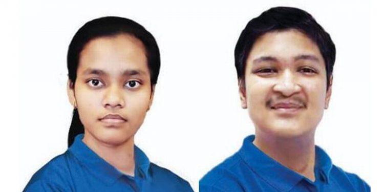 Top two rank holders of NEET 2020- Akansha Singh (left) and Soyeb Aftab (right)