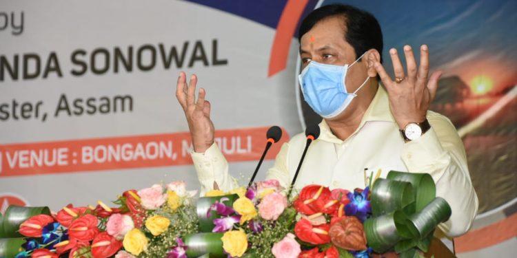 Assam CM Sarbananda Sonowal is speaking to mark the inauguration of 33/11 KV sub-station