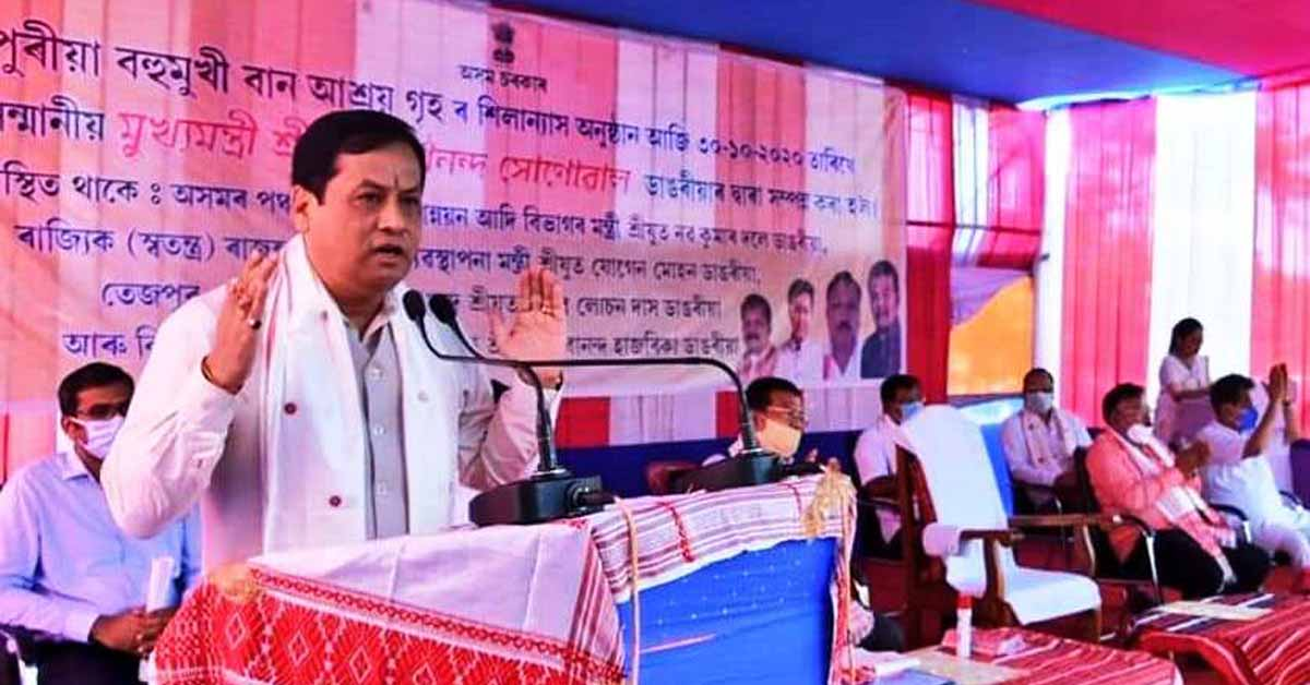 Assam: CM Sonowal lays foundation for multi-purpose flood shelter facility in Lakhimpur 1