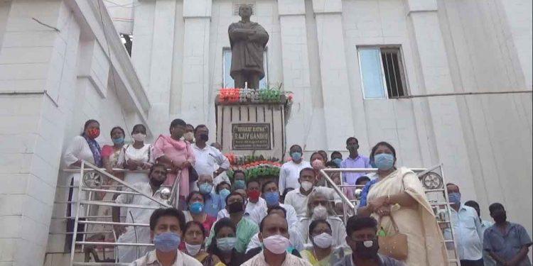 Tripura Congress members during the Satyagraha