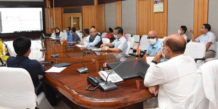 Manipur CM chairing a meeting