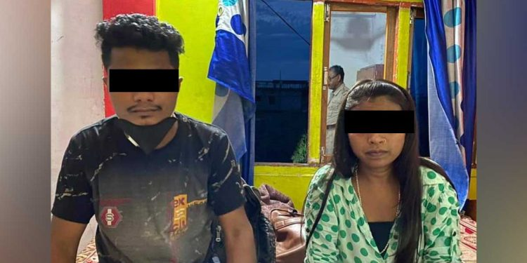 The two arrested smugglers. Image: Northeast Now