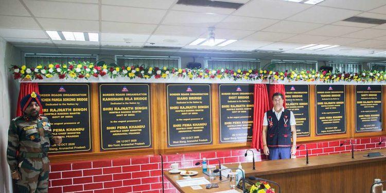 Arunachal Pradesh CM Pema Khandu at the launch of roads