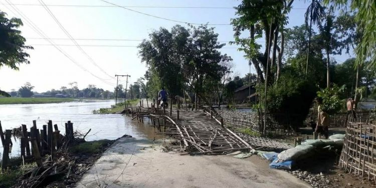 Devastation caused by smaller rivers in Lakhimpur. Image: Northeast Now