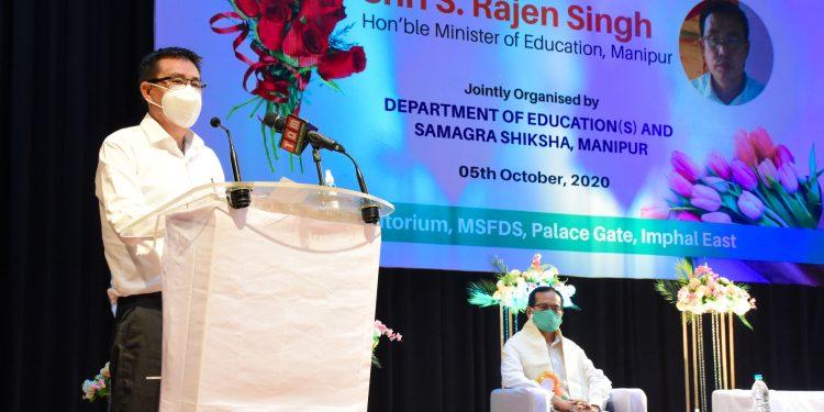 Manipur education minister Sorokhaibam Rajen