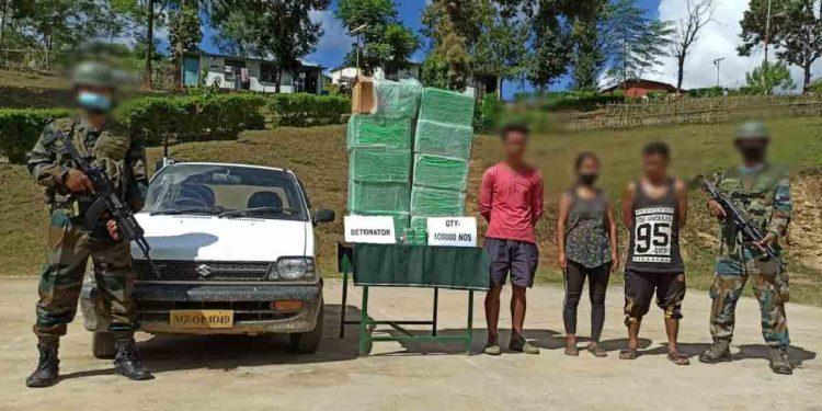 Mizoram: Three people apprehended for carrying illegal detonators 1