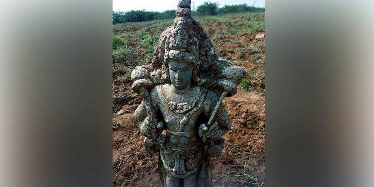 Stone idol of Sun God