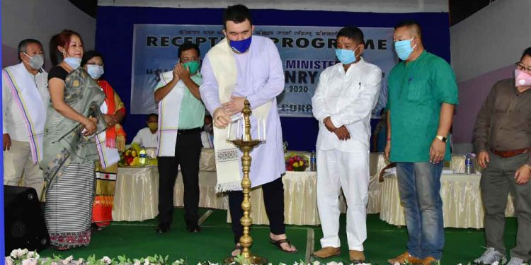 Manipur minister Okram Henry inaugurating a programme organised by MSCW. Image: Northeast Now