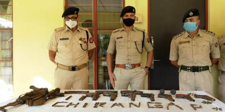 A team of police launched search operations in two different locations under Runikhata police station.