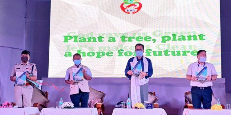 Arunachal deputy CM at the function, organized to celebrate the first anniversary of Hamara Arunachal Abhiyan (HAA) in Itanagar.