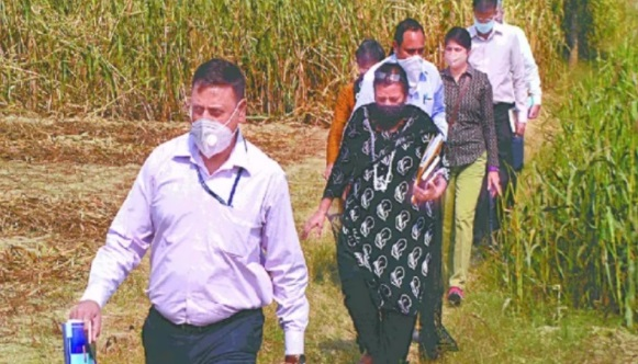 CBI team probing Hathras case. (File image)