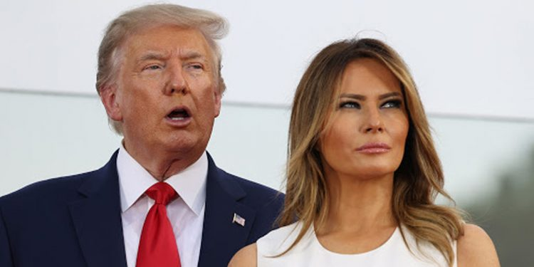 Donald Trump and his wife