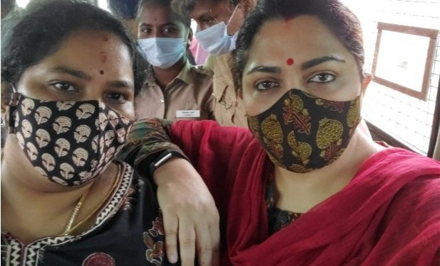 Khushbu was en route to Chidambaram to participate in the protest rally against VCK's Thirumavalavan.