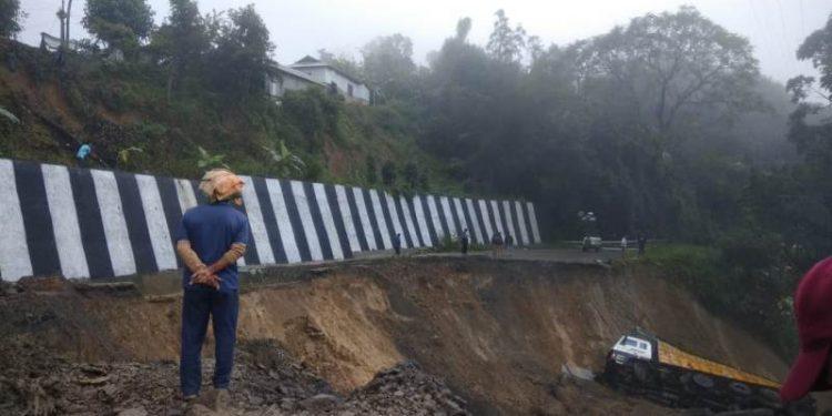 The landslide took place at Khongnem area in Manipur's Senapati district.