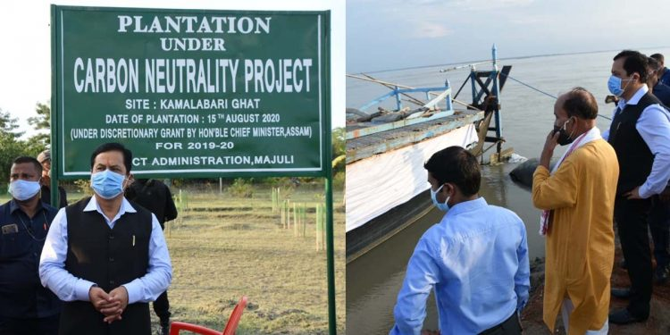 Assam CM Sonowal inaugurates plantation drive in Majuli under Carbon Neutrality Project 1