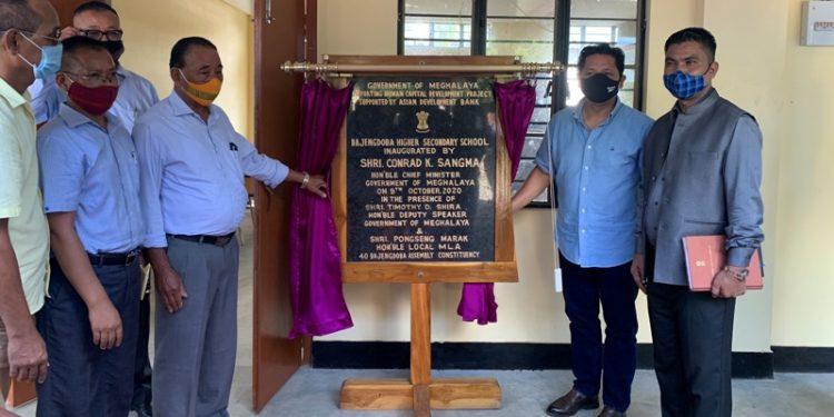 CM Conrad K Sangma  inaugurates the new building of Bajengdoba Higher Secondary School in North Garo Hills.