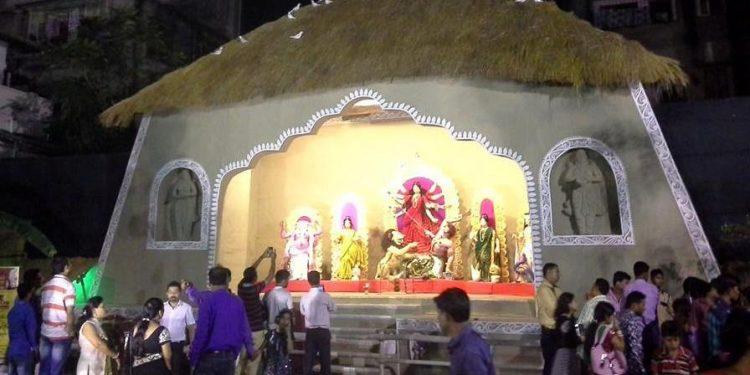 A Puja Pandel in Guwahati.