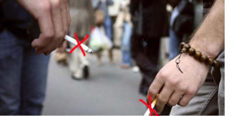 Smoking in public place
