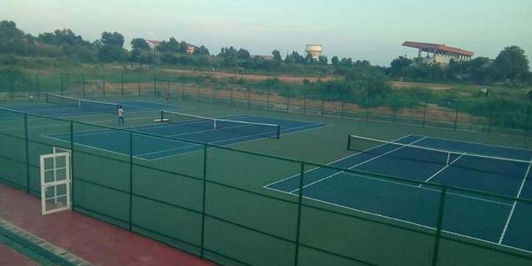 Tennis centre at Dasarath Dev State Sports Complex