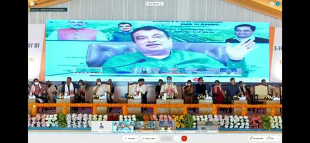 Nitin Gadkari lays foundation stone of India's first multi-modal logistic park in Assam 2
