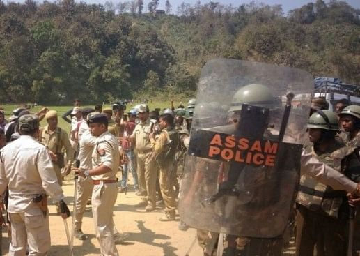Security forces along the Mizoram border. (file image).