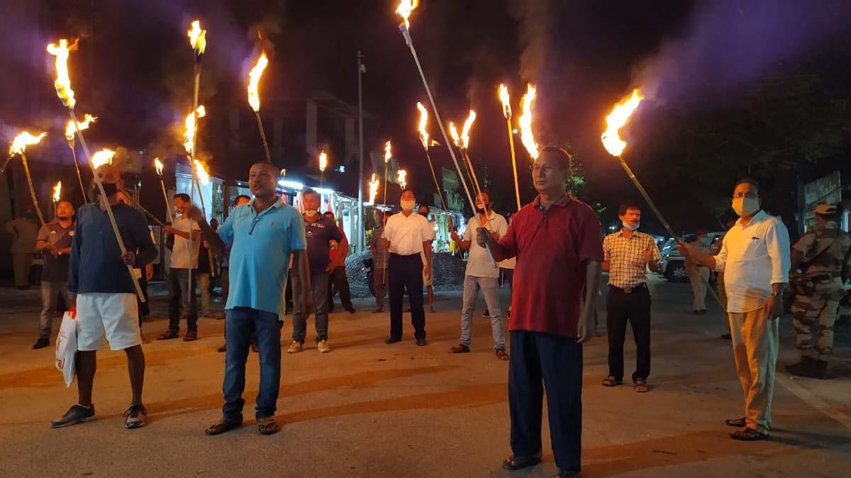 Assam: BPF supporters take out torchlight rallies demanding BTC polls 1