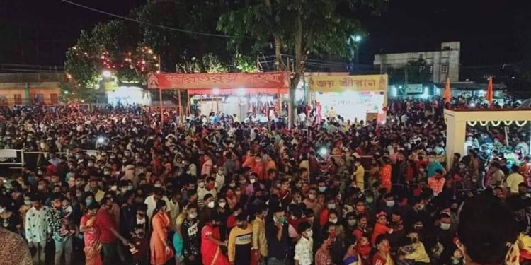 Tripura government shuts down Puja pandal after visuals of big crowds go viral on social media 1