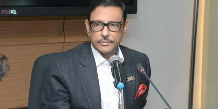 Road transport minister Obaidul Quader on Saturday told reporters in Dhaka that