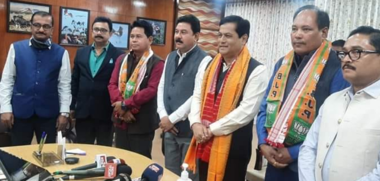 The two BPF leaders joined the saffron party at Assam chief minister Sarbananda Sonowal's official residence in Guwahati.