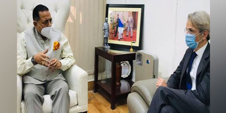 DoNER Minister With France Ambassador to India