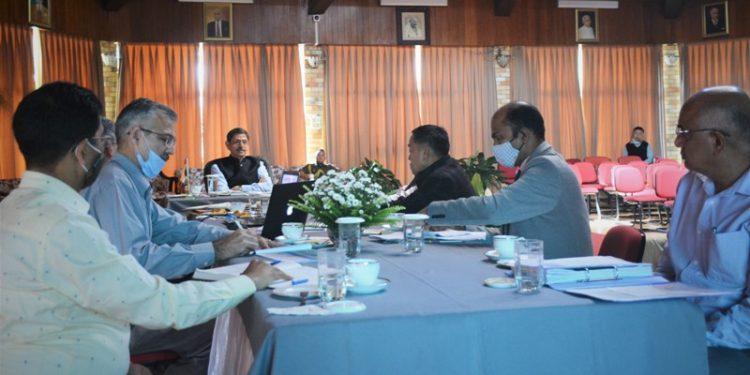 Nagaland Governor RN Ravi reviews progress of road projects at a meeting at Raj Bhavan in Kohima on Thursday.