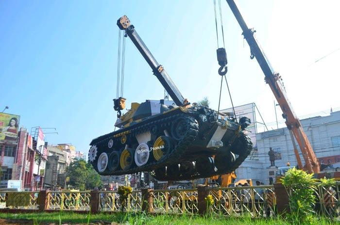 Tanks used in Bangladesh Liberation War shifted to Albert Ekka Park in Agartala 1