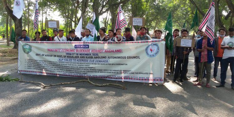 economic blockade in Karbi Anglong
