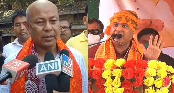 BPF chief Hagrama Mahilary and Himanta  Biswa Sarma.