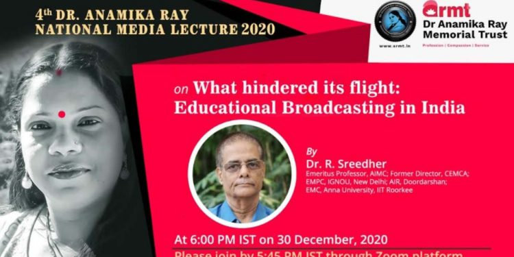 4th Dr Anamika Ray National Media Lecture 2020