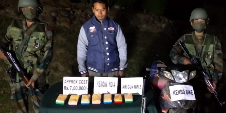 One person was arrested in connection with the seizure of the heroin valued at Rs 7 lakh in the local market.