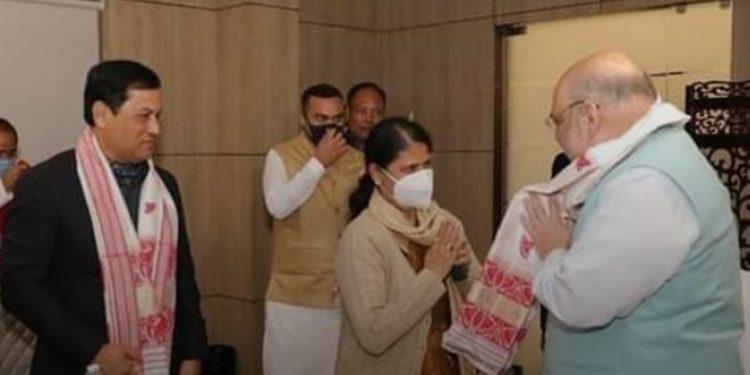 Ajanta Neog meets Amit Shah