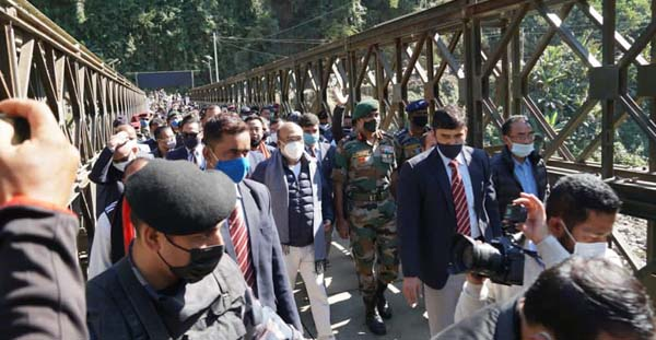 Indian Army completes bridge 1