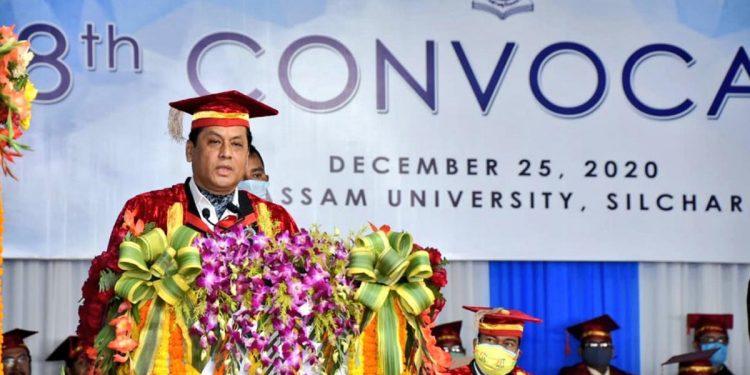 Assam CM Sarbananda Sonowal at Assam University