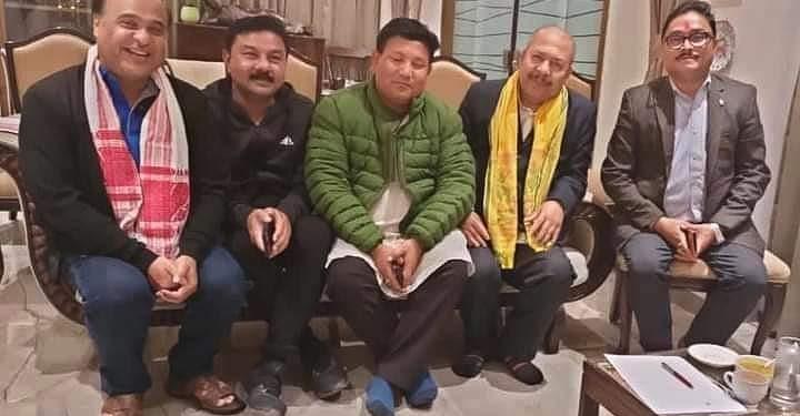 UPPL chief Pramod Boro met Assam finance minister Himanta Biswa Sarma at his Dispur residence late at night on Saturday.