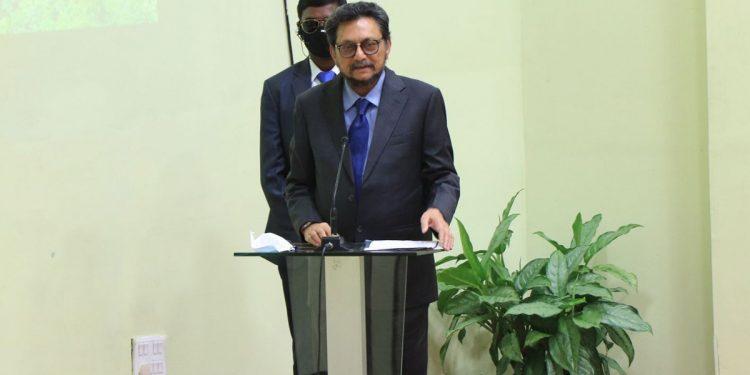 "CJI SA Bobde while speaking at the ""Meet on Green Mizoram""."