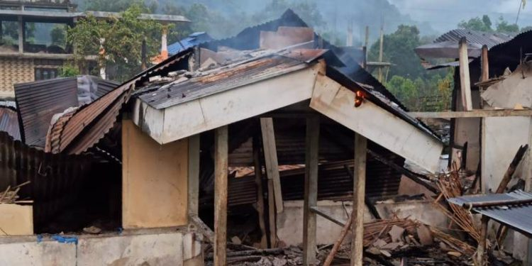 The fire is believed to have started from a kuttcha kitchen which falls in line with the teachers' quarters.