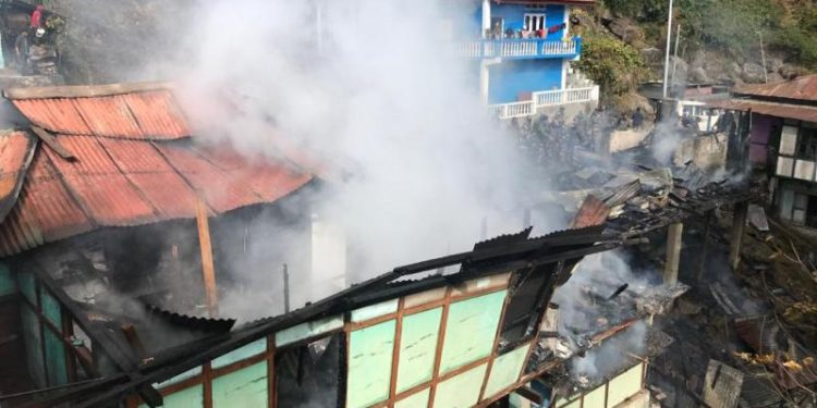 Arunachal: Four houses gutted in fire in Tawang 1